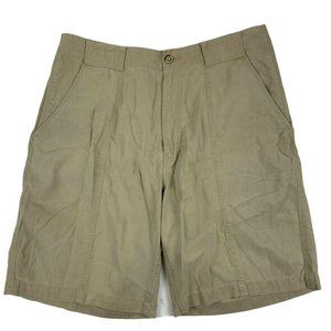 Tommy Bahama Mens Relaxed Fit Pleated Shorts Sz 34